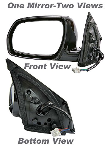 APDTY 0662858 Side View Mirror,Black Left Side/Driver Side, Power, With Heat, Foldaway, without Auto Dimming, and not Extendable,Paint to Match Plastic Housing(Fits 2003-2004 Nissan Murano)Replaces OEM Part Number(s) 96302CA300
