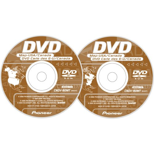 Pioneer Avic-D/Avic-Nand Hide Away 2009 Update U.S.A./Canada Map DVD