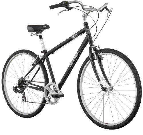 Diamondback Kalamar Men's Comfort Hybrid Bike (700c Wheels), Black, Large/19-Inch