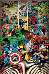 Marvel Avengers Comic Book Superhero Poster 24 x 36 inches