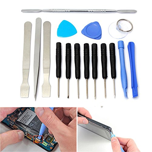 16 in 1 Mobile Repair Opening Tool Pry Screwdriver Kit Set For Cell Phone Tablet