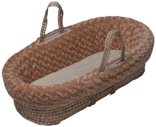 Imagen de Baby Doll Bedding Rosey Chenille Moisés Basket, Camel