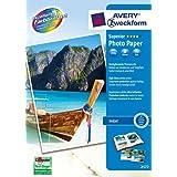 Avery Zweckform Glossy Photo Paper A4 (210 x 297 mm), 200 g/m2, 50 fogli, carta fotografica, colore: Bianco