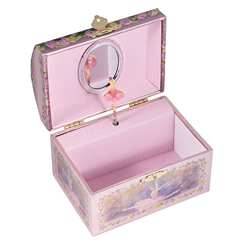 Childrens purple musical music box jewelry music box for Amazon ballerina musical jewelry box