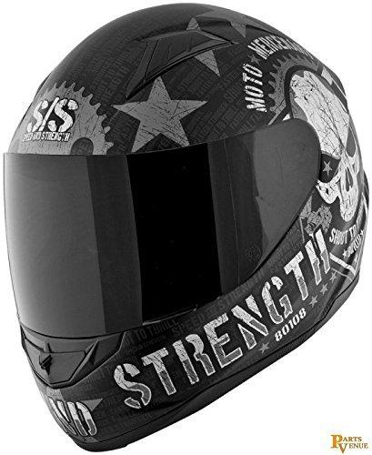 Speed and Strength Moto Mercenary Full Face SS1100 Motorcycle Helmet (Matte Black, X-Large)