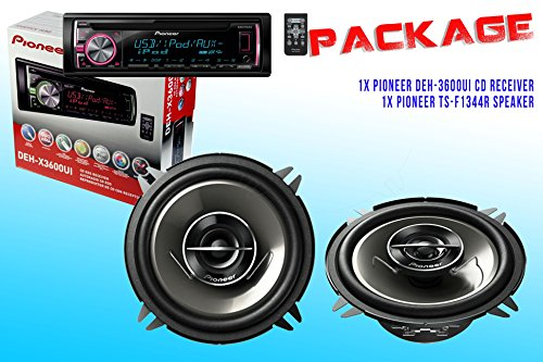 Package ! Pioneer Deh-X3600Ui Cd-Receiver + Pioneer Ts-G1344R Car Speakers