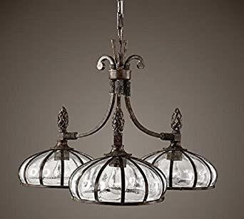 mexican hacienda revival style chandelier bronze iron. Black Bedroom Furniture Sets. Home Design Ideas