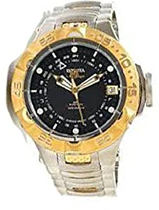 Men's Subaqua GMT Automatic Stainless Steel Case and Bracelet Black Tone Dial