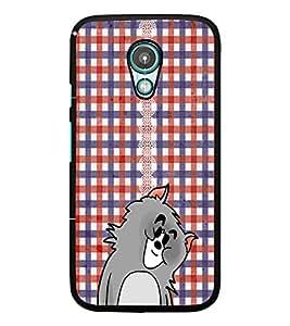 PrintDhaba Kitty D-3059 Back Case Cover for MOTOROLA MOTO G2 (Multi-Coloured)