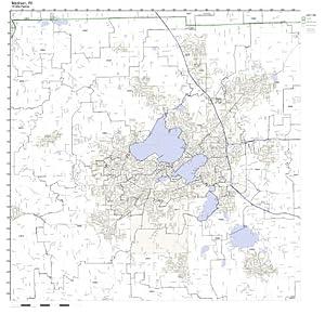 Amazon Madison WI ZIP Code Map Laminated Prints