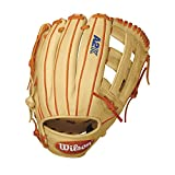 Wilson A2K DW5 David Wright Infield Baseball Glove, Blonde/Orange/White, Right Hand Throw, 12-Inch, 12 inches/Blonde/Orange/White