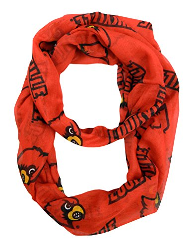 NCAA-Louisville-Cardinals-Sheer-Infinity-Scarf-One-Size-Red