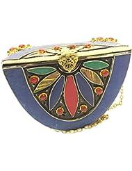 Nakkashee Rajasthan Latest Handcrafted Designer Stone Semicircle Sling Bags