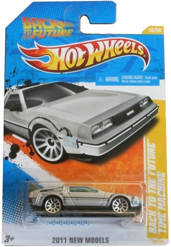 Hot Wheels 2011-018 New Models 18/50 Back To The Future Time Machine 1:64 Scale (Model Time Machine compare prices)