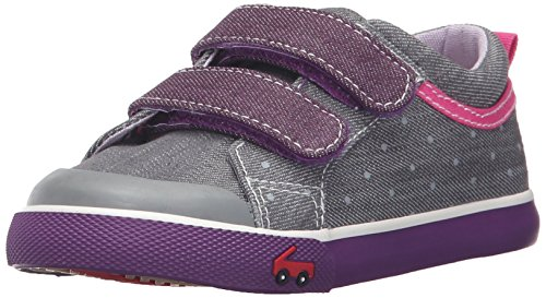 See Kai Run Girls' Robyne Sneaker, Gray/Purple, 8 M US Toddler (See Kai Run Shoes compare prices)