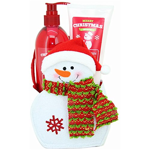 gloss-snowman-merry-christmas-estuche-de-bano-regalo-blackberry-color-blanco