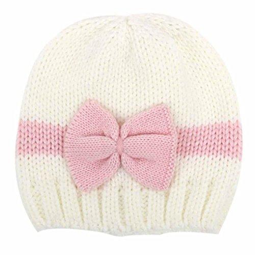 Baby Hat,Leegor Newborn Infant Knitting rosette Wool Crochet Hat Soft Cap (White) Crochet Baby Booties Free