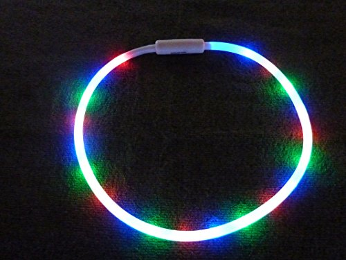 The Amazing 20 Led Tube Necklace! - Incredibly Bright And Colorful With A Whopping 20 Led'S Inside! Makes A Great Christmas Gift!
