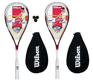 2 x Wilson Pro 900 Squash Rackets + 3 Wilson Squash Balls RRP £110 from Wilson