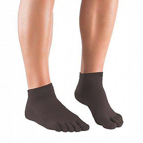 Knitido Essential Sneakers - Calzini con dita taglio sneakers, Misura:39-42;Colori:nero