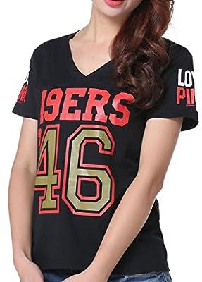 Women's NFL '46 San Francisco 49ers Pink Victoria's Secret Tee T-shirt