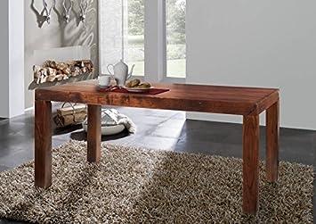 Table de salle à manger de style colonial en bois d'acacia 140 x 90 cm bois massif oXFORD cUBUS - 101