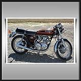 HONDA CB 550 MOTORBIKE A1 CANVAS ART PRINT