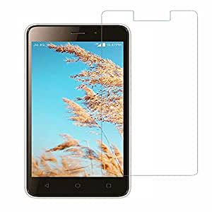 SNOOGG PACK OF 2 LYF Wind 6 8 GB Black Clear Screen Guard Toughened Glass