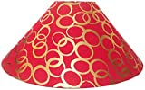 "13"" Round Red with Golden Polka Dots Designer Lamp Shade for Table or Floor Lamp"