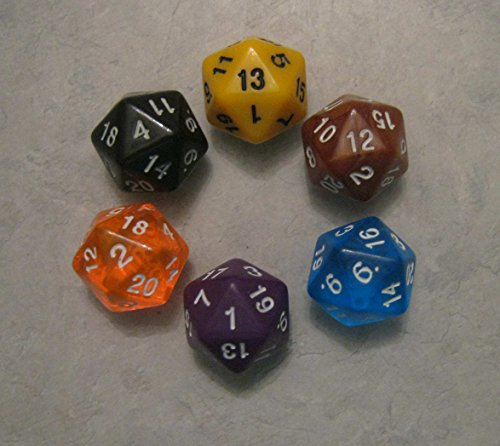 12x d20 RPG Polyhedral Dice Pack