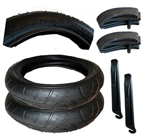 2 Stück Reifen + Schlauch 280 x 65 – 203 mit Montagehebel