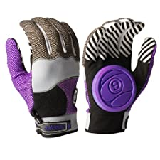 Sector 9 Apex 2014 Longboard Skateboard Slide Gloves Purple / Black / Grey / Size S/M With Slide Pucks