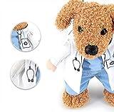 Milkee 犬服コスプレ ペット服  ペットウェア 小型猫、犬服 クリスマスの服 ドレスアップ マントセット 変身 コスプレ (L, 医者)