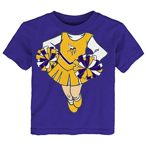 NFL Minnesota Vikings Cheerleader Girls Short sleeve Tee