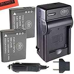 Pack of 2 LI-90B Batteries & Charger for Olympus Tough TG-1 iHS TG-2 iHS SH-50 iHS XZ-2 iHS Digital Camera + More!!