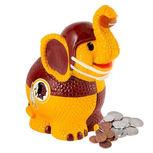 NFL Washington Redskins Thematic Elephant Piggy Bank - 1
