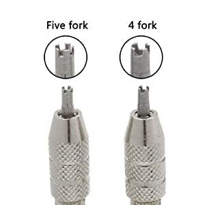Screwdriver, 4 And 5 Prongs Easy Use Silver Durable Tool Removal Rustproof Repair Accessory Stainless Steel Adjustable for Richard Mille Watch Strap(B) (Tamaño: B)