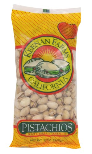 Keenan Farms Pistachio, In-Shell Natural, 12-Ounce Bags (Pack of 6)