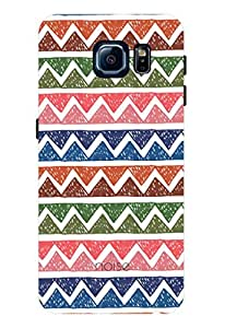 Noise Dark Colorful Mountains Printed Cover for Samsung Galaxy S6