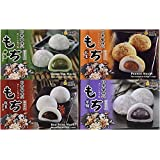 Royal Family Japanese Mochi Variety Pack Including Red Bean, Taro, Green Tea and Peanut, 29.6 oz