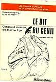 LE DIT DU GENJI, PREMIERE PARTIE, TOME I, CONTES ET ROMANS DU MOYEN AGE, 1978 (LES OEUVRES CAPITALES DE LA LITTERATURE JAPONAISE) (2716900981) by MURASAKI _ SHIKIBU