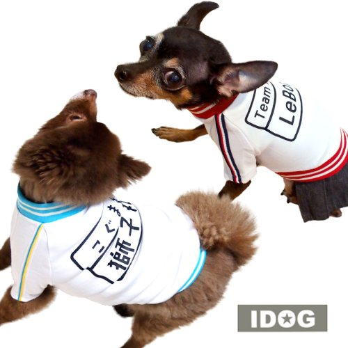 iDog アイドッグ カスタムプリント お名前入りワンコの体操服 レッド DS