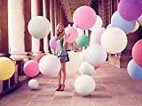 36 Inch Giant Jumbo Latex Balloons (Premium Helium Quality), Pack of 6, Assorted
