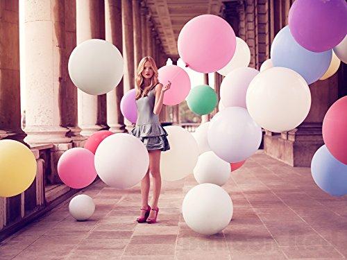 36 Inch Giant Jumbo Latex Balloons (Premium Helium Quality), Pack of 24, Gold