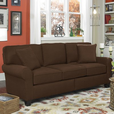 SoFab 1293M-00-SFB332-24018 Lass Chocolate Sofa