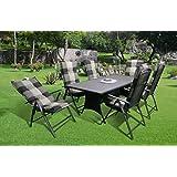 13-teilige Luxus Aluminium Polyrattan Streckmetall Gartenmöbelgruppe