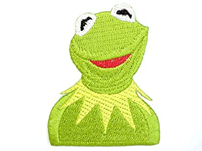 "Muppets Kermit the Frog Iron On Sew On Emroidered Badge PatchApprox: 2.9""/7.4cm x Approx: 2.2""/5.8cm By MNC Shop"