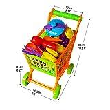 Kinder-Einkaufswagen-mit-Spielobst-Einkaufsladen-Kaufmannsladen-Shopping-Trolley-Toy-Cart-Kauflden-Rollenspiele