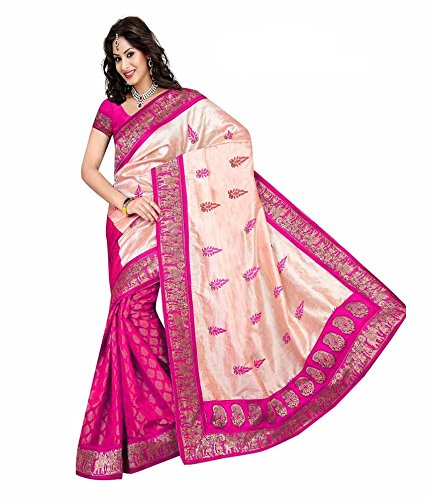 Yashoda Textile Multi Color Chanderi Silk Embrodired Sarees With Un-Stitched Blouse Piece (1y.s_539_Multi)
