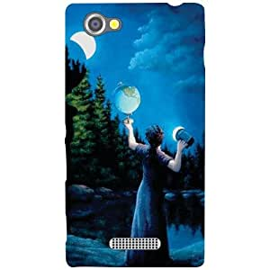 Sony Xperia M Back Cover - Moonlight Designer Cases
